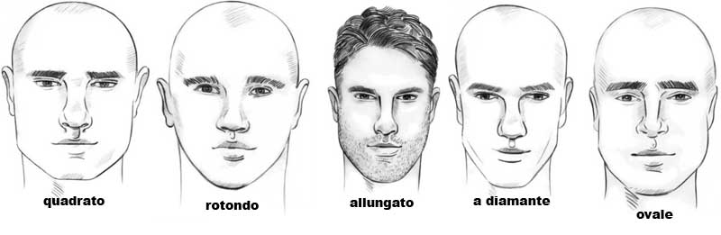 Taglio di capelli uomo viso a diamante